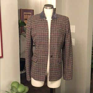 NWT J. Crew jewel collar wool blazer